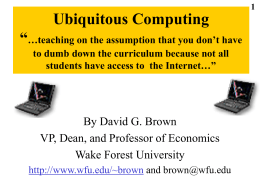 PowerPoint - Wake Forest Student, Faculty and Staff Web Pages