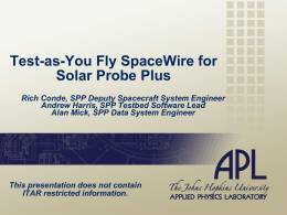 Large PPT - Workshop on Spacecraft Flight Software