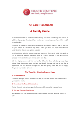 Care Handbook A Family Guide