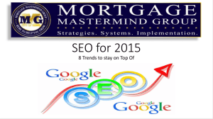 SEO for 2015 - Mortgage Mastermind Group