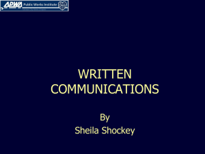 Written Communications - American Public Works Association
