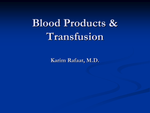 Blood & Blood Products - UC San Diego Health Sciences