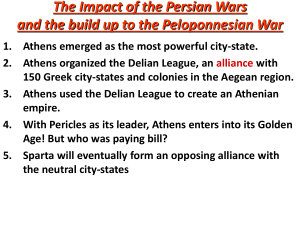 The Impact of the Persian Wars and the build up to the