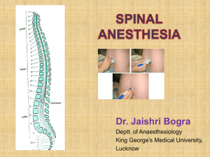 Spinal Anaesthesia [PPT]