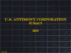 USAC Corporate Presentation - United States Antimony Corporation