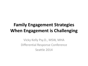 Family Engagement Strategies When Engagement is Challenging