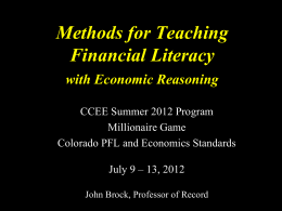 to view - Colorado Council for Economic Education