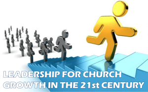Leadership for church growth in the 21st century