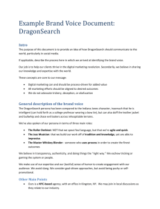 Example Brand Voice Document from DragonSearch