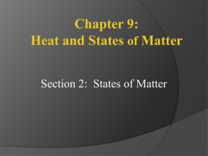 Heat and States of Matter