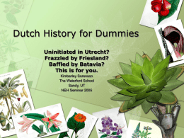 PowerPoint Presentation - Dutch History for Dummies