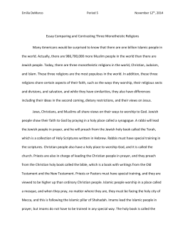 Emilia DeMarco Period 5 November 12th, 2014 Essay Comparing