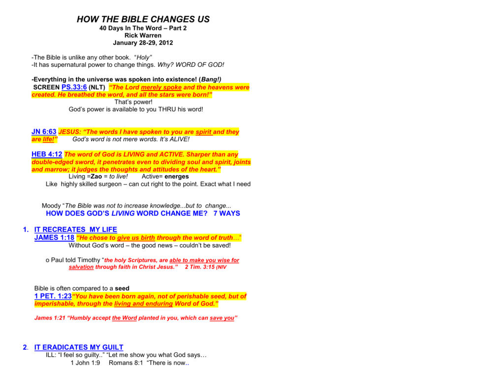 Sermon Notes - Peckville Assembly of God