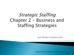 Business & Staffing Strategies