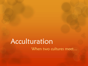 Acculturation - WordPress.com
