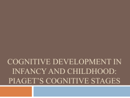 Cognitive Development in Infancy and Childhood: Piaget*s