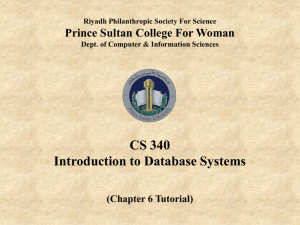 CH 6 Tutorial - Solved - CS 340 Database Management System