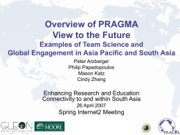Examples of Team Science and Global Engagement