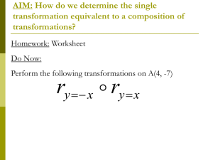 AIM: How do we determine the single transformation equivalent to a