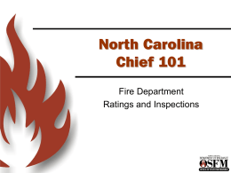 Chief 101 PowerPoint - North Carolina Department of Insurance