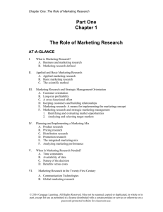 The Role of Marketing Research - Find the cheapest test bank for