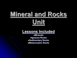 Mineral and Rock Unit