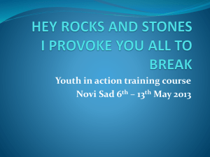HEY ROCKS AND STONES / Power point presentation