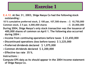 Chapter 4: Income Statement