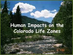Human Impacts on the Colorado Life Zones