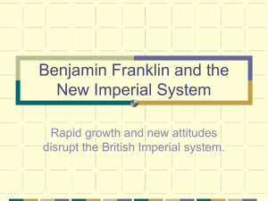 Franklin and the New Imperial System