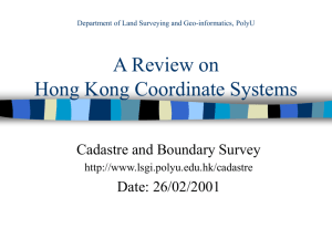 Introduction to Hong Kong Coordinate System