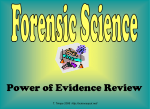 Forensic Science - The Science Spot