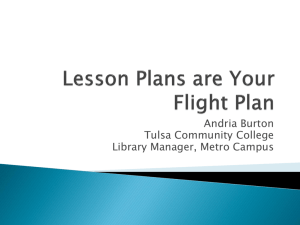Lesson Plans are your Flight Plan