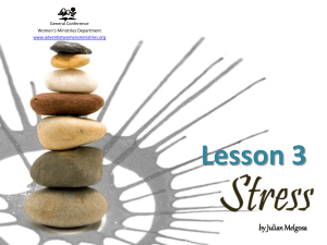 Lesson 3- Stress - Adventist Women's Ministries