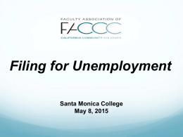 Filing for Unemployment