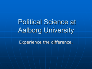For political science majors