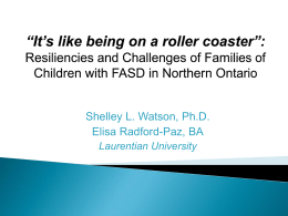 Raising a Child with FASD in Northern Ontario