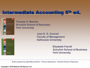 Intermediate Accounting - McGraw