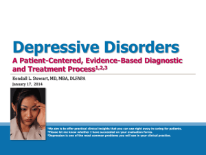 Depressive Disorders - Southern Ohio Medical Center