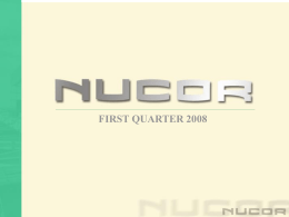Nucor Steel Products Capacity Growth 2000