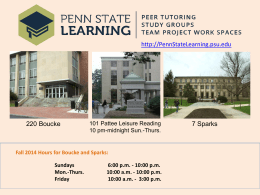 Penn State Learning *Students helping students succeed.*