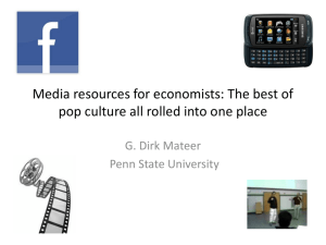 Workshop: Media resources for economists: The best of pop culture