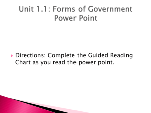Forms of Government Power Point