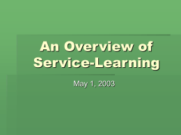 Service-Learning - Office of Undergraduate Research & Experiential
