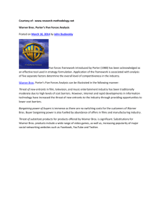 Courtesy of : www.research-methodology.net Warner Bros. Porter's