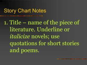 Story Chart Notes