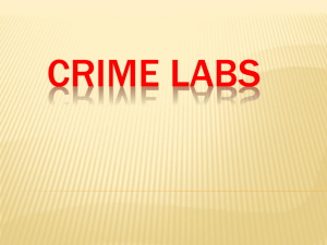 History of FoSci ppt Crime Labs ppt