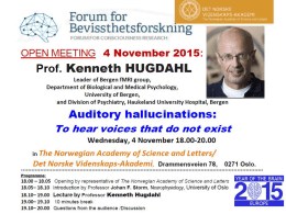 Prof. Kenneth Hugdahl