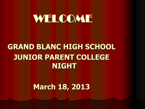 College Applications - Grand Blanc High School