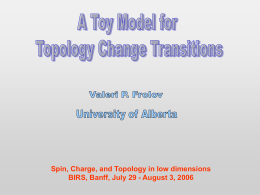 A toy model for topology-change tansitions